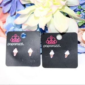 Paparazzi Bundle of 2 Ice Cream Cone Earrings NWT